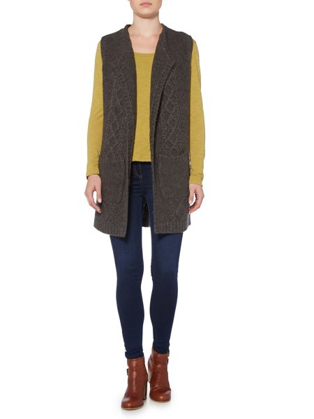 LILY & ME Cable Knit Longline Cardigan