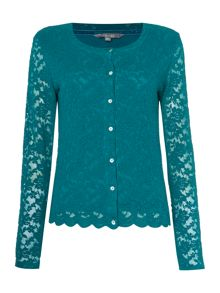 LILY & ME Embroidered Lace Cardigan