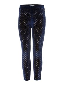 Little Dickins & Jones Girls Studded Velvet Legging