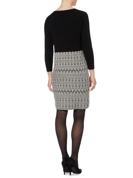 Max Mara Badia long sleeve printed knitted dress