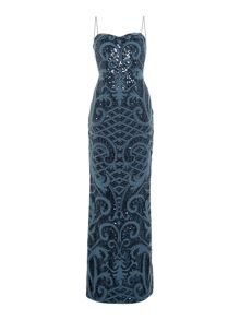Adrianna Papell Strapless knitted sequin shift dress