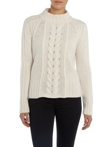 Max Mara Dingo long sleeve cable knit jumper