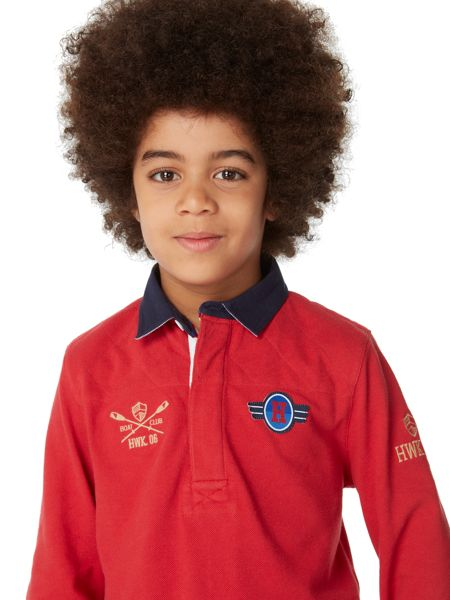 Howick Junior Boys Quilted Pique Polo