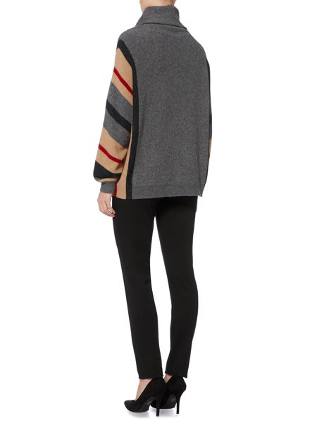 Max Mara Panaro striped sleeve oversize jumper