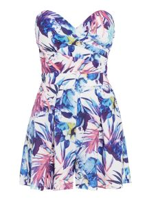 Girls on Film Bandeau Mini Playsuit