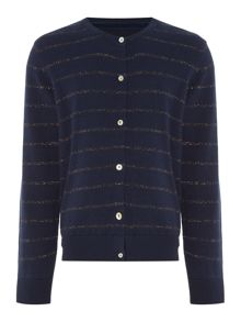 Little Dickins & Jones Girls Sparkly Stripe Cardigan