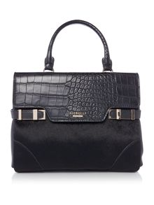 Fiorelli Grace black croc small tote crossbody bag