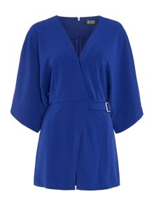 Girls on Film 3/4 Sleeve Wrap Playsuit