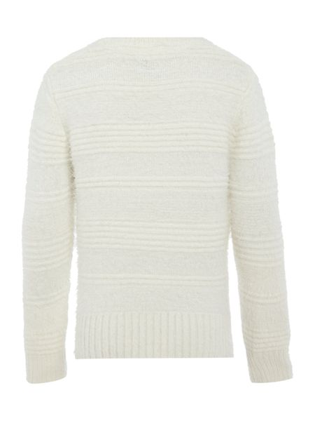 Little Dickins & Jones Girls Crew Neck Fluffy Jumper