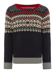 Howick Junior Boys Crew Neck Fairisle Jumper