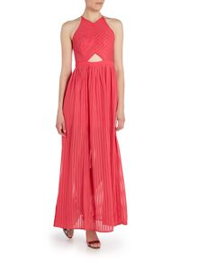 Girls on Film Sleeveless Cutout Maxi Dress