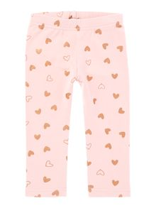 name it Girls Foil Heart all over print leggings
