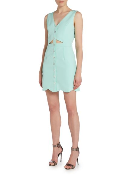 Girls on Film Sleeveless Button Detail Mini Dress