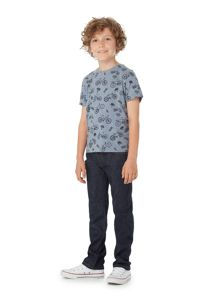 Howick Junior Boys Bike Print Crew Neck T-shirt
