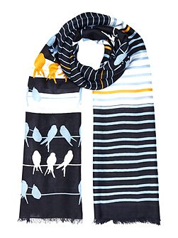 Bird and Stripe Scarf