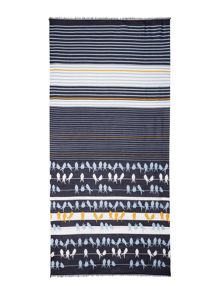 Dickins & Jones Bird and Stripe Scarf