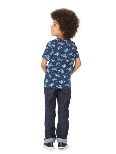 Howick Junior Boys Aeroplane Print Crew Neck T-shirt