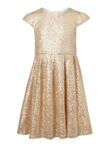 Little Dickins & Jones Girls all Over Sequin Dress with Bow