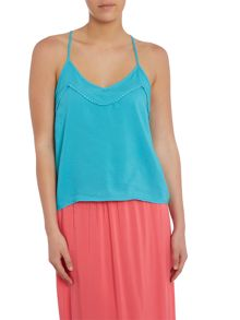Vero Moda Solid Crop Singlet Top