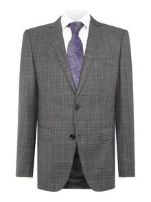 Hugo Boss Huge Genius Check Melange Suit