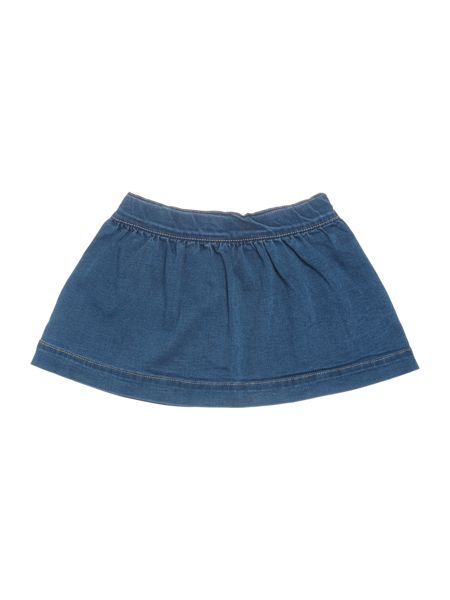 name it Girls Button Front Denim Skirt