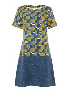 BRAINTREE Alwina Block Print Shift Dress