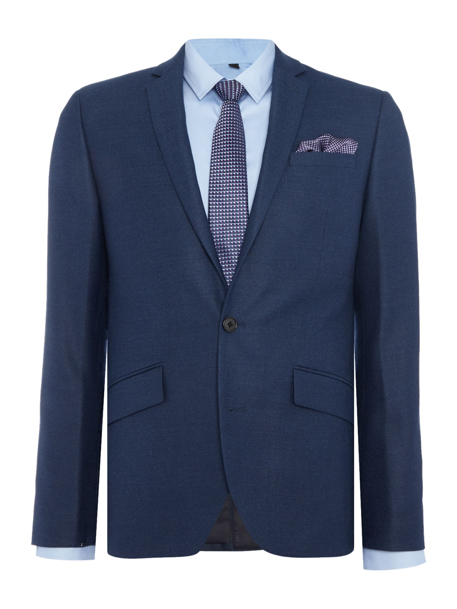 Men's Kenneth Cole Hector textured slim fit suit jacket, Blue