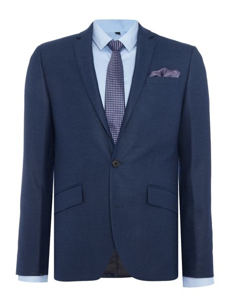 Kenneth Cole Hector textured slim fit suit jacket