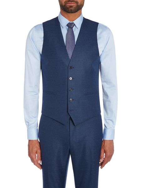 Kenneth Cole Hector textured suit waistcoat