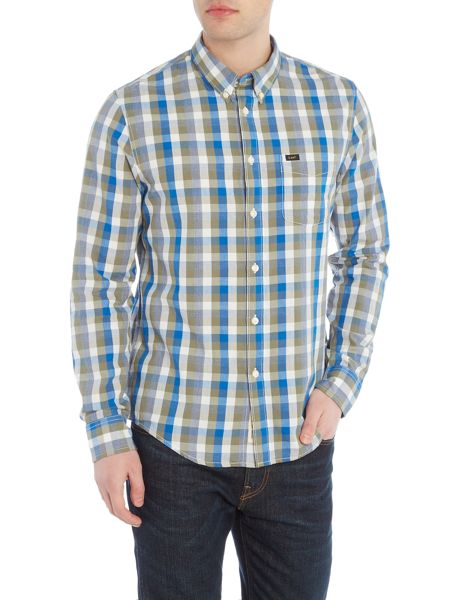 Lee Regular fit button down gingham shirt
