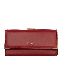 Laverne red fold over frame purse