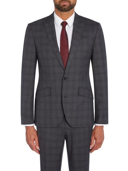 Kenneth Cole Douglas SB2 slim fit check suit jacket