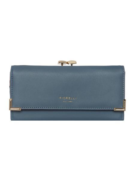 Fiorelli Laverne light blue fold over frame purse