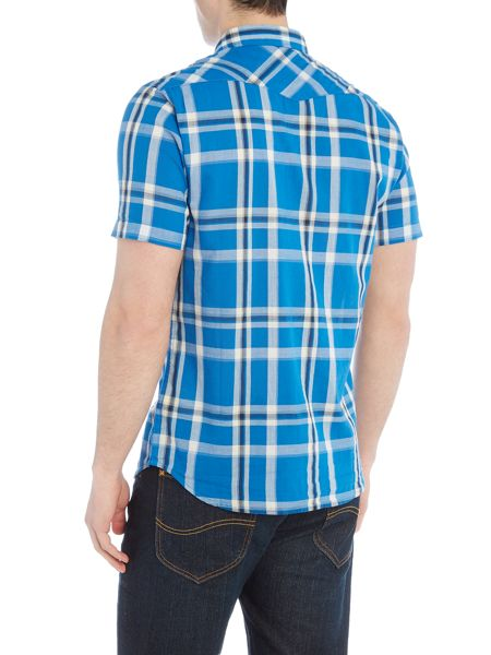 Lee Slim fit short sleeve western check shirt