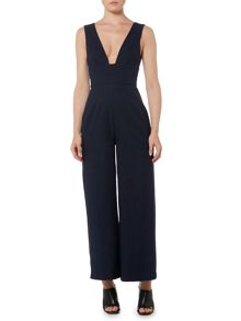 Keepsake Sleeveless V Neck Cropped Jumpsuit