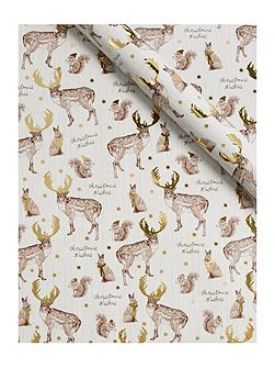 Gold deer 3m wrapping paper
