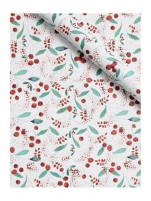 Linea Vintage Christmas berry 3m wrapping paper
