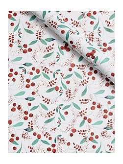 Vintage Christmas berry 3m wrapping paper