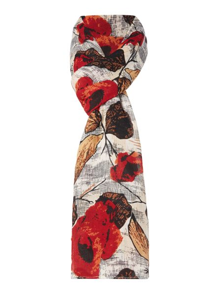 Linea All Over Poppy Scarf