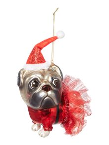 Linea Santa pug decoration