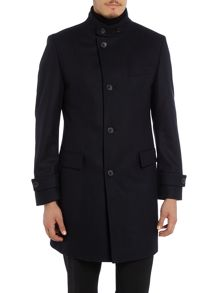 Hugo Boss Sintrax Diagonal Twill Wool Coat