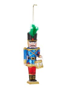 Linea Blue nutcracker decoration