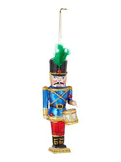 Blue nutcracker decoration