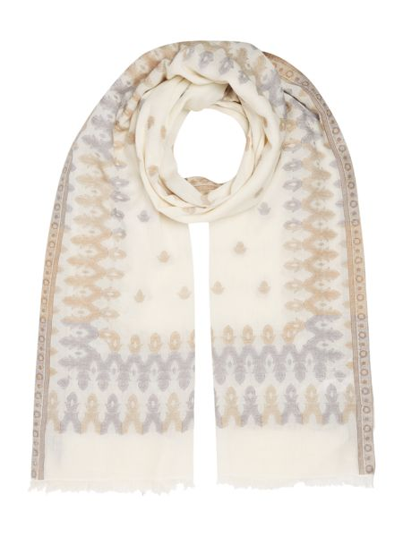 Gray & Willow Jacquard Border Pattern Scarf