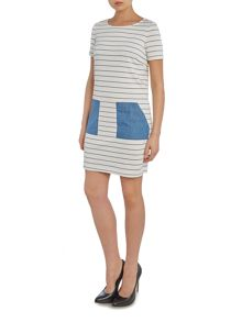 Vila Sleeveless Pocket Shift Dress