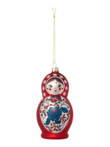 Linea Red Babushka doll decoration