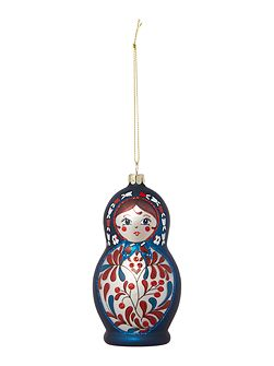 Blue Babushka doll decoration
