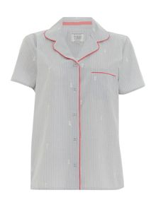 Dickins & Jones Embroidered Revere Top