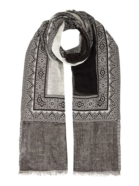 Gray & Willow Patchwork Print Scarf