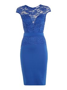 Jessica Wright Sleeveless Lace Top Bodycon Dress